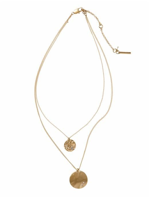 Double Layer Pendant Necklace / Kenneth Cole New York