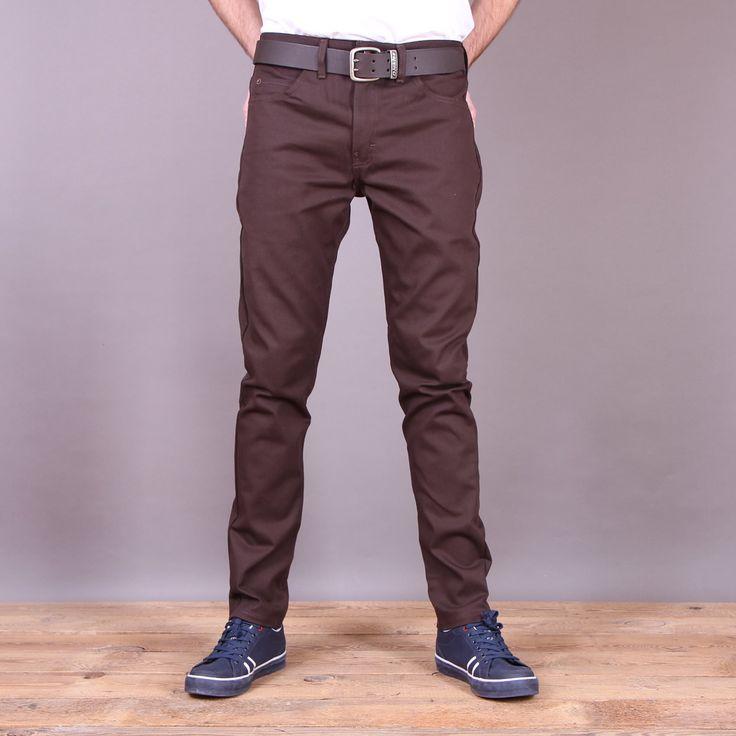 Ciemnobrązowe spodnie Dickies WP810 Slim Skinny / www.brandsplanet.pl / #dickies streetwear