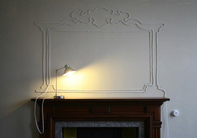 Turn your cables and extension cords into art instead of hiding them in your apartment!