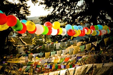 measuring Bhutan's gross national happiness in balloons... beautiful idea, beautiful imagery