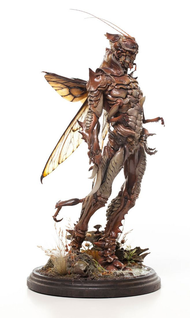 Creature research - interesting use of an insect style, different from a large amount of creature concepts, has a very natural and organic look to it.