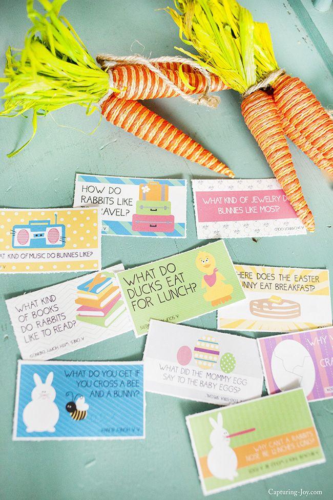 Free Printable Easter Lunchbox Jokes. What a sweet idea. | Capturing Joy with Kristen Duke