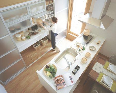 キッチン 大きな収納 イメージ