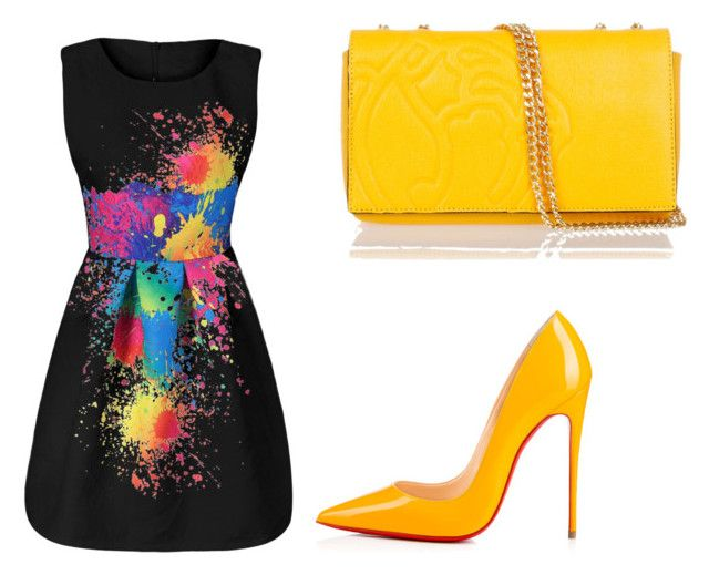 yellow sun by lauradamiani on Polyvore featuring polyvore fashion style Citizens of Humanity Christian Louboutin Braccialini clothing