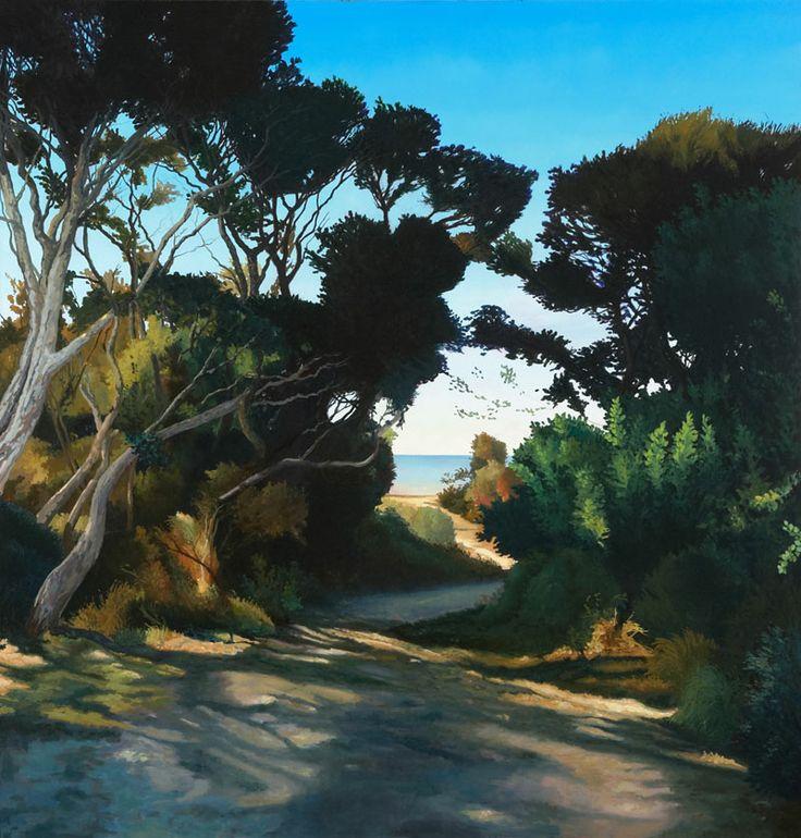 David Keeling Green to Blue 2014 oil on linen 128 x 123cm $16,500