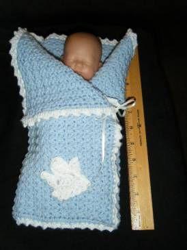 *Free Crochet Pattern: Sweet William's Angel Wrap for Preemies