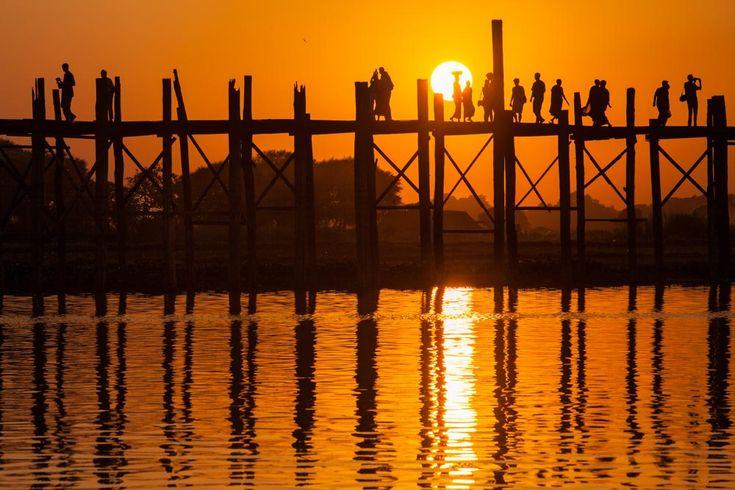 U Bein bridge in Myanmar. Photo: John Einar Sandvand. More photos: http://sandvand.net/photography-in-myanmar-meeting-the-sun-at-u-bein-bridge/