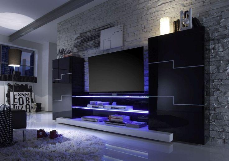 standardwand twin l b h ca 300 50 186 cm wohnzimmer wohnwand home living wandboard. Black Bedroom Furniture Sets. Home Design Ideas