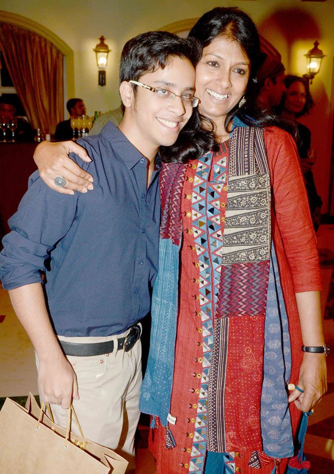 ishaan puri with nandita das at ishaans birthday bash