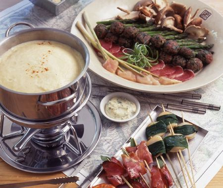 Classic Broth Fondue & Dipping Foods Recipe