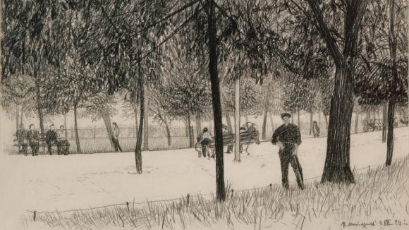 Piotr Vasilievich Miturich (1887-1956) Boulevard, 1924,  Tretyakov gallery