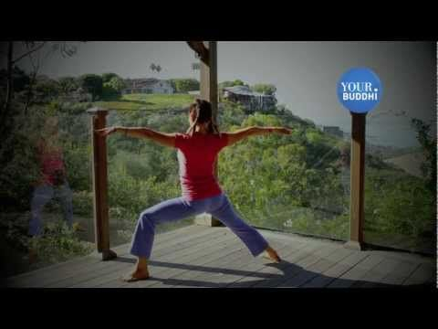 yogaTip: Beginner: Warrior 2 - YouTube