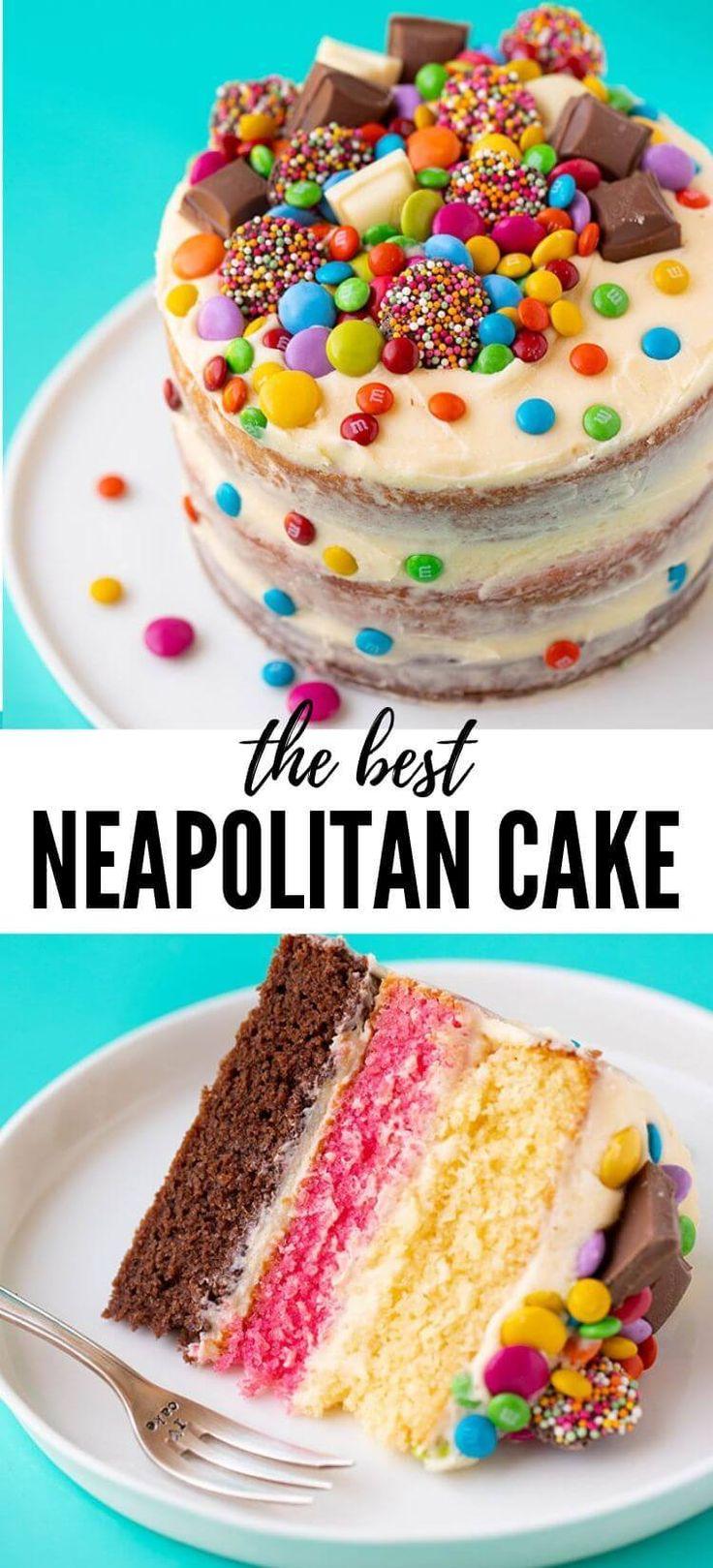 Ein einfacher neapolitanischer Kuchen, der mit nur einem Kuchenteig hergestellt wird! Drei Schichten Schoko …   – Recipes