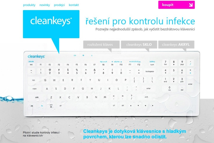 Cleankeys keyboard by CAD Technologies Prague. Distributor for Czech, Slovakia, Croatia, Slovenia, Lithuania market