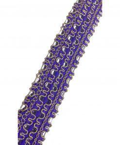 Galons Indiens Violet 4 cm x 1M Rubans customisation textiles