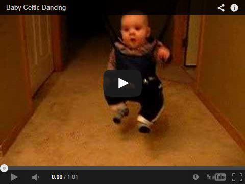 Baby Celtic Dancing - Un bébé qui fait de la danse celtique ! ==> http://www.infolk60.fr/humour-fun.php#3