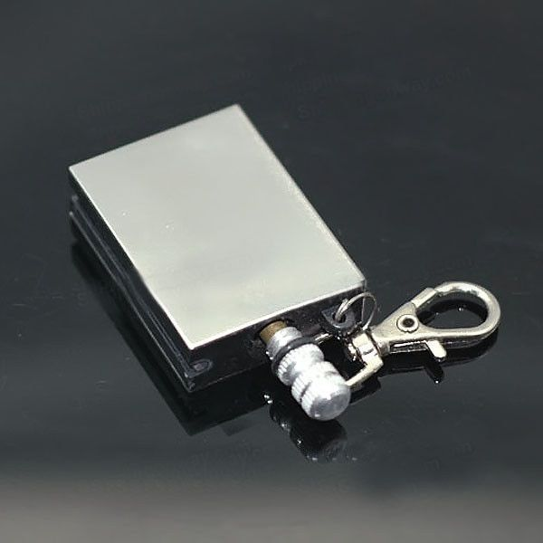 Camping Metal Match Fire Starter Gas Oil Flints Cigarette Lighter w/ KeyChain