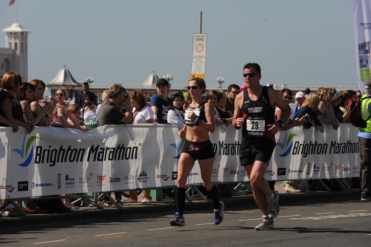 Crowd Barrier Banner at a Marathon