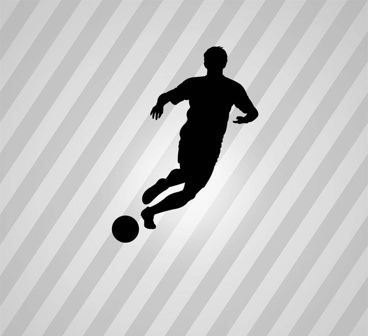 Soccer Player Silhouette Soccer - Svg Dxf Eps Silhouette Rld RDWorks Pdf Png AI Files Digital Cut Vector File Svg File Cricut Laser Cut