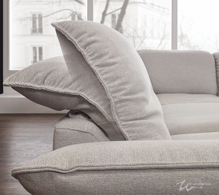 Detailansicht des Sofa-Rückens Modell sherry - in Funktion