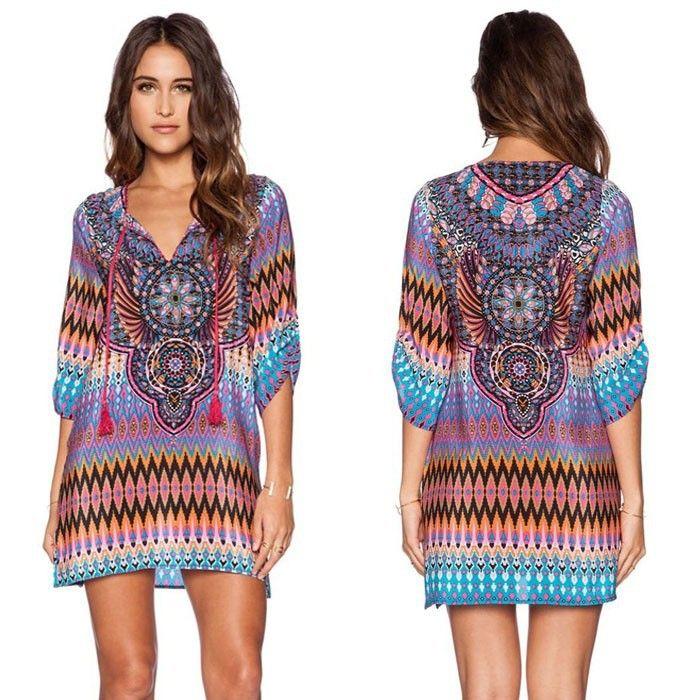 Платье лето, стиль женщины винтажный этнический испанский марка Desigua стиль цветочный принт свободного покроя пляж хобо хиппи платьекупить в магазине Kasy Fashion наAliExpress