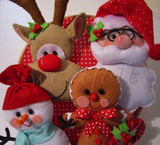 ♥♥♥ FELIZ NATAL!! JOYEUX NOEL!!! HAPPY CHRISTMAS!!!! by sweetfelt \ ideias em…
