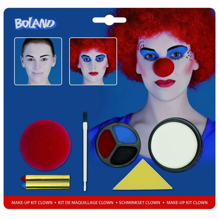fancydressvip - Harley Quinn Evil Jester Clown Facepaint Make-up Kit with Nose, £6.99 (http://www.fancydressvip.com/accessories/face-paint-make-up/harley-quinn-evil-jester-clown-facepaint-make-up-kit-with-nose/)