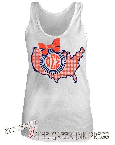 66 best custom sorority tank tops images on pinterest for Custom sorority t shirts