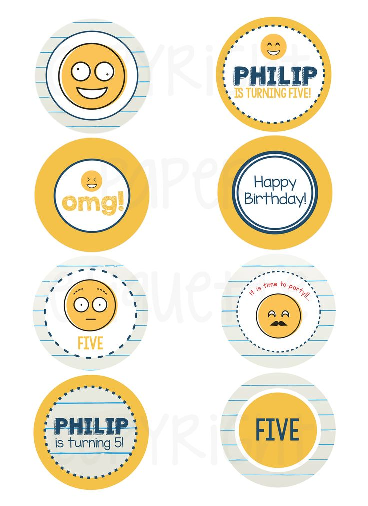 The 25 best Emoji cupcake toppers ideas on Pinterest Cupcake
