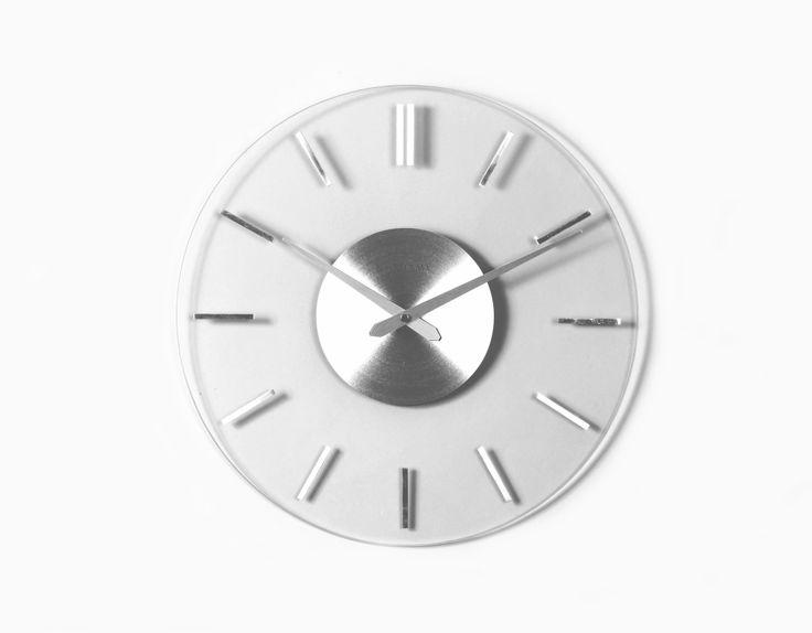 fabio glass wall clock by next 74