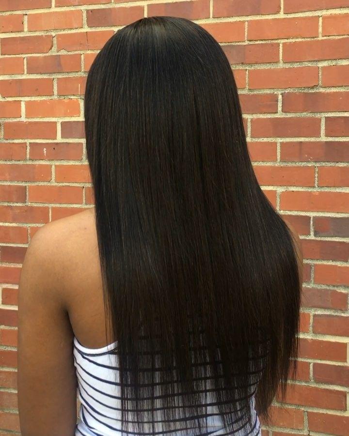 Sleek Straight Install 16 Closure 18 20 Www Iamtravia Com Savannahhair Straight Sew In Heat Free Curls Braided Hairstyles