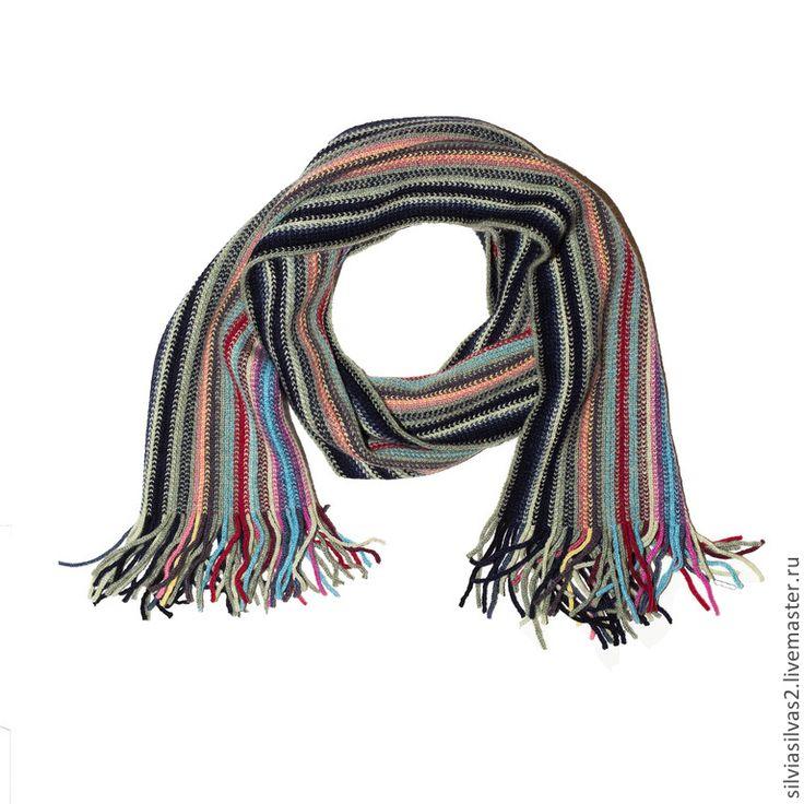 """Купить Кашемировые полосатые шарфики """"Для всей семьи"""" в ассортименте - в полоску, шарф, шарф женский"""