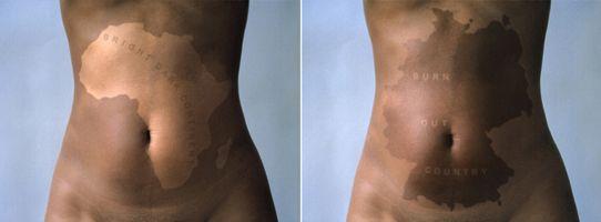Ingrid Mwangi (Kenyan, b. 1975). Static Drift, 2001. Two chromogenic prints mounted on aluminum, edition of 5. Heather and Tony Podesta Collection, Falls Church, Virginia. (Photo: Courtesy of Galerie Anne de Villepoix, Paris)