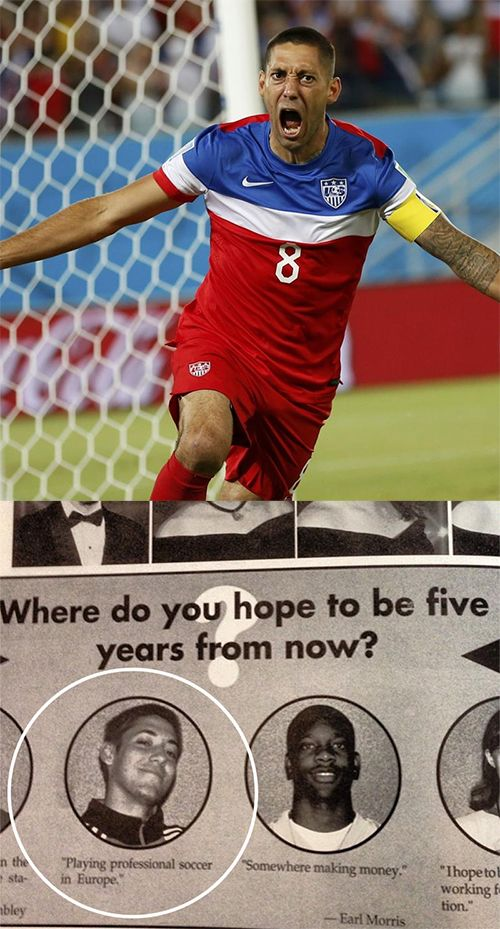 Team USA captain Clint Dempsey then and now. #tbt #worldcup #usmnt