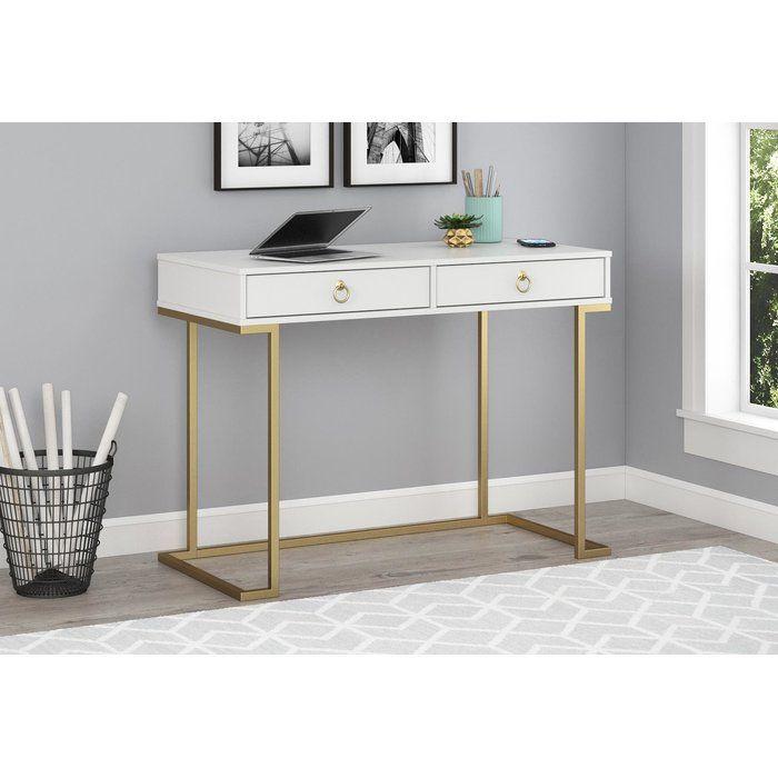 Mercer41 Filbert Writing Desk Reviews Wayfair Desk With Drawers Writing Desk With Drawers Cheap Office Furniture