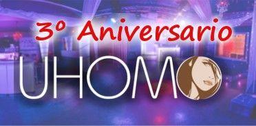 Sábado 19 de noviembre,3 aniversario uhomo swinger club