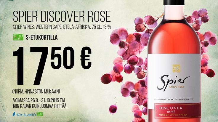 Spier Discover Rose 75 cl, 17,50€ (Norm. 33,00€). Bierhuis Rotterdam, 1. krs.