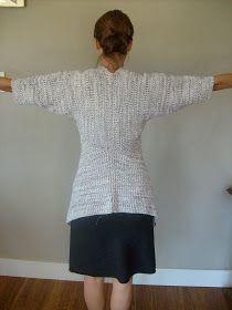 Elizabeth Abernathy: Sweater Refashion: 80's Oversized Crew Neck to Drape Front Cardigan