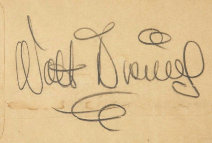 Walt Disney's signature. the D looks nothing like the one they use for the logo.
