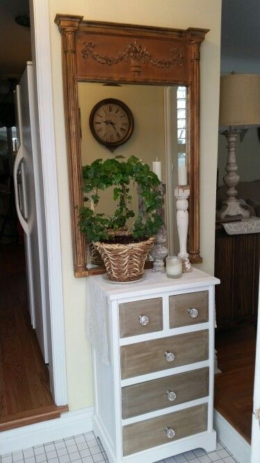 Painted small foyer dresser