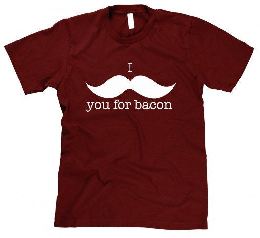 Mustache you for Bacon t shirt funny bacon by CrazyDogTshirts, $14.99