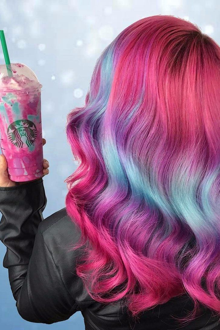 Hair color images - Unicorn Frappuccino Hair Is Now A Thing Because Duh