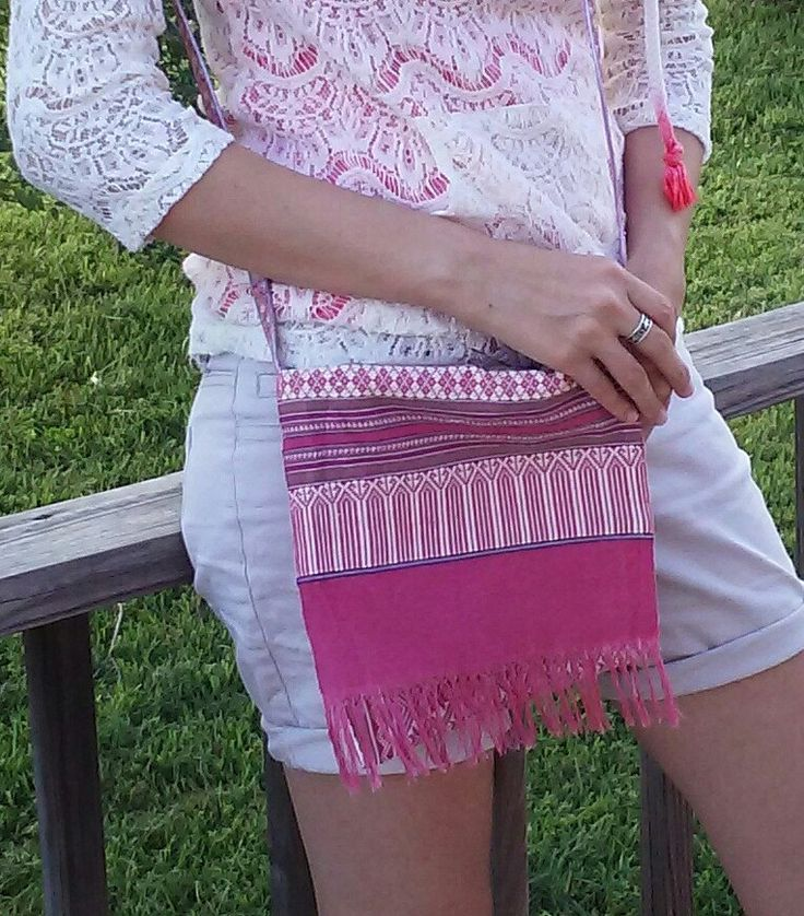 Woven Upcycled Boho Purse by SewVeryBerry on Etsy