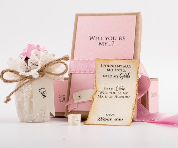 Will you be My Maid of Honor or Bridesmaid Message by XOXOKristen                                                                                                                                                                                 Plus
