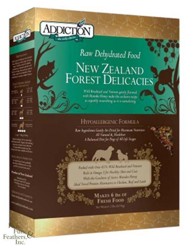 Addiction Raw Dehydrated New Zealand Forest Delicacies Dog Food