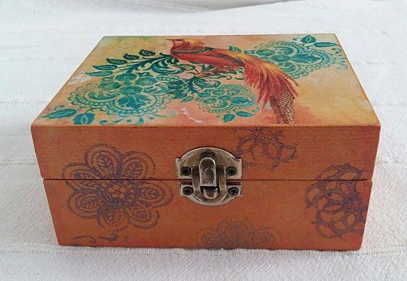 Jewelry box FirebirdJewelerDecorative box Wooden by tossart