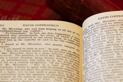 David Copperfield via Belle & York  #Dickens #Copperfield #Letterpress #antique #typeface #font #bibliophile #library