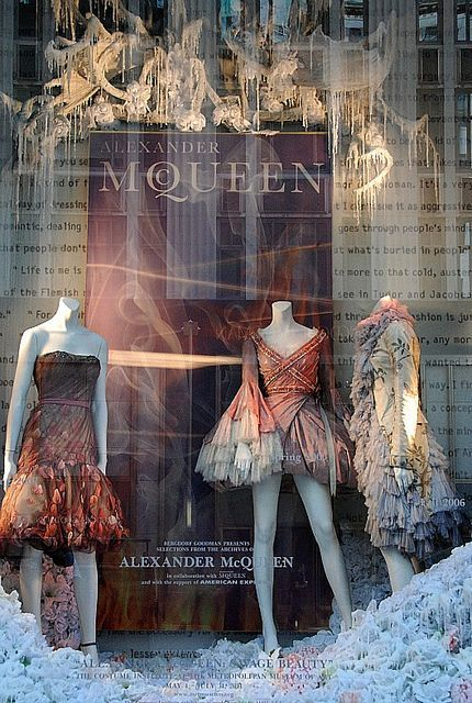 NY window display - McQueen