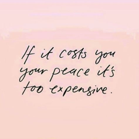 If it costs you...