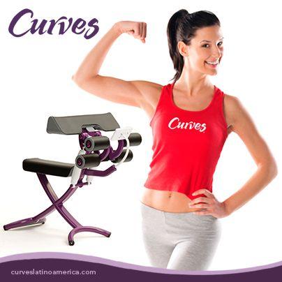 """¡No más brazos """"flojitos""""! Fortalécelos con la máquina de bíceps- tríceps. #CurvesFunciona"""